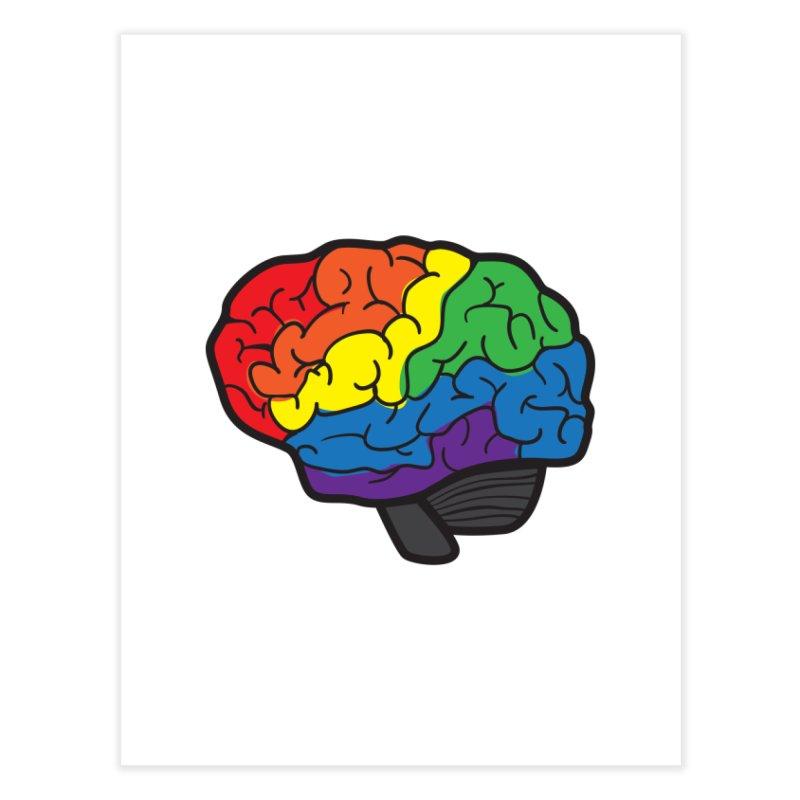 Colourful Brain Home Fine Art Print by LLUMA Design