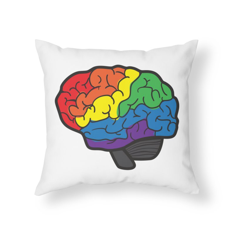 Colourful Brain Home Throw Pillow by LLUMA Design
