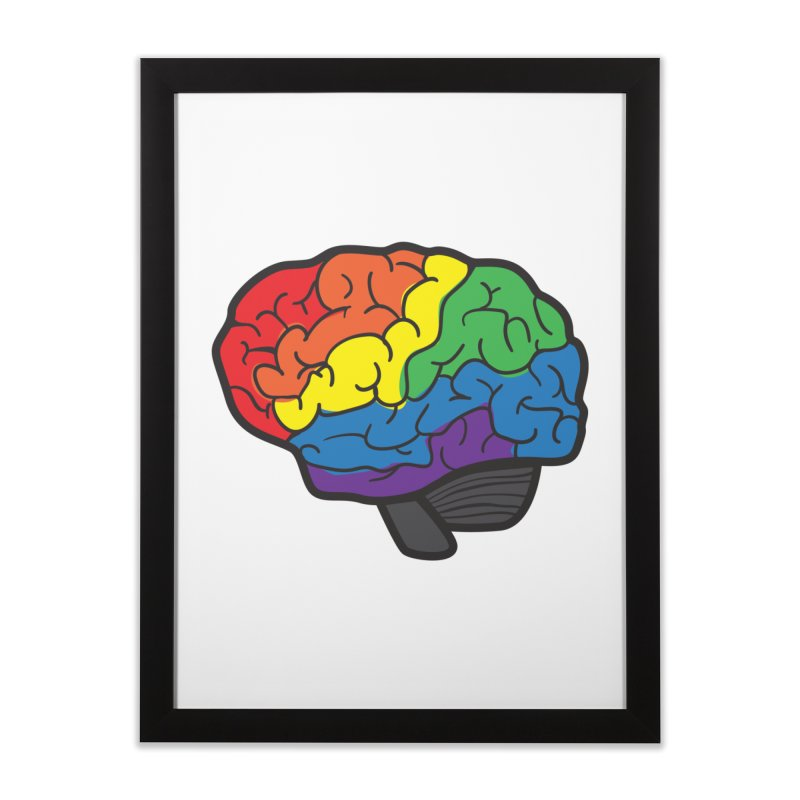 Colourful Brain Home Framed Fine Art Print by LLUMA Design
