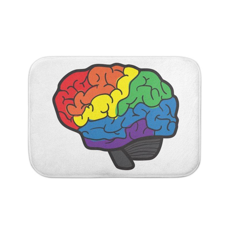 Colourful Brain Home Bath Mat by LLUMA Design