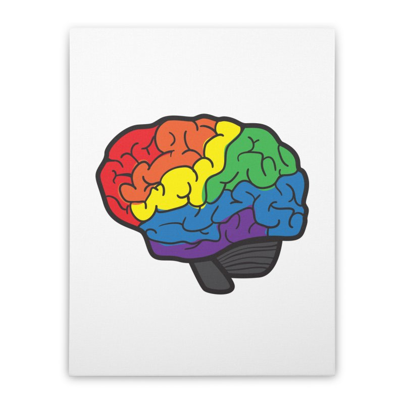 Colourful Brain Home Stretched Canvas by LLUMA Design