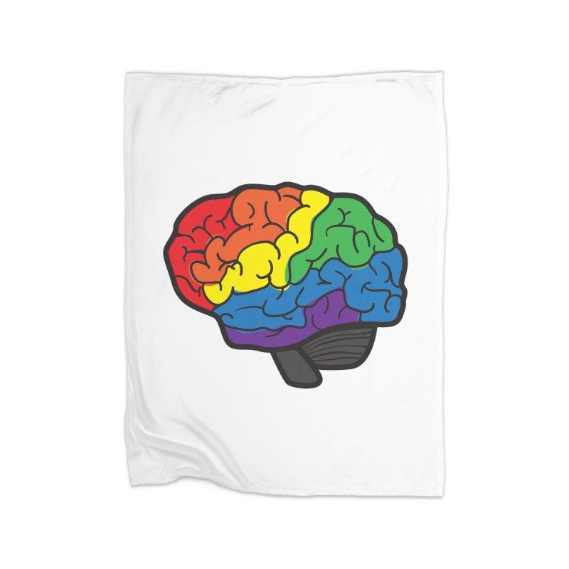 Colourful Brain Home Blanket by LLUMA Design