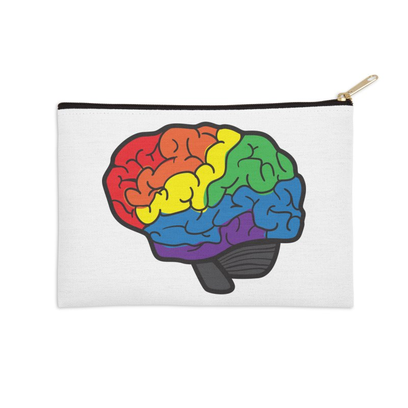 Colourful Brain Accessories Zip Pouch by LLUMA Design