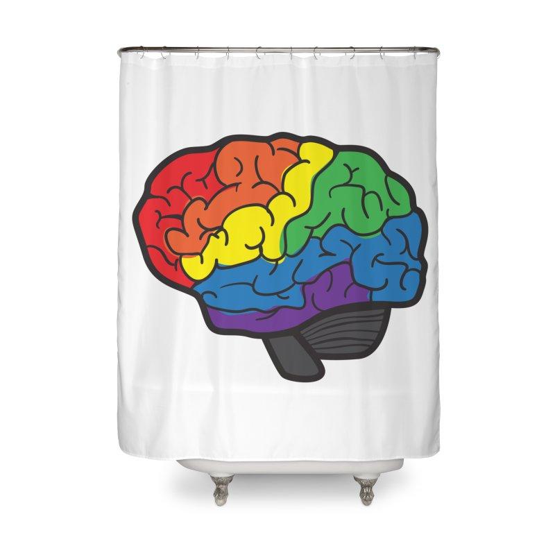 Colourful Brain Home Shower Curtain by LLUMA Design