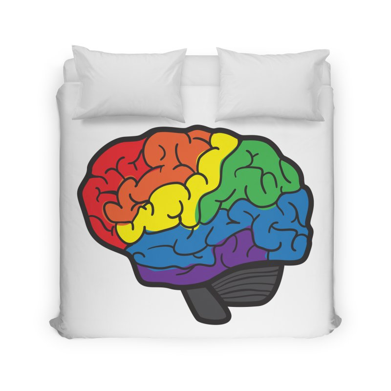 Colourful Brain Home Duvet by LLUMA Design