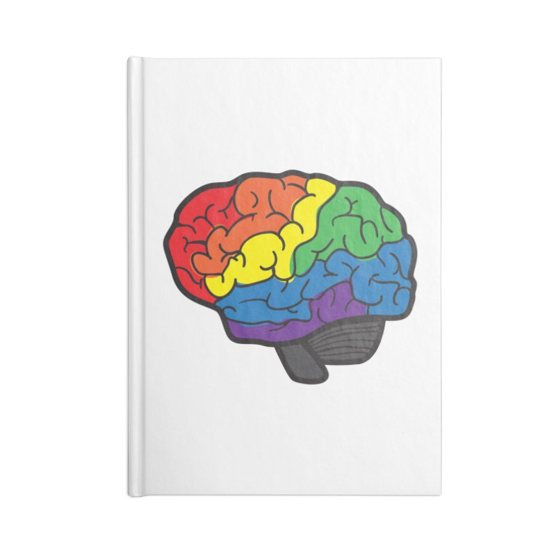 Colourful Brain Accessories Notebook by LLUMA Design