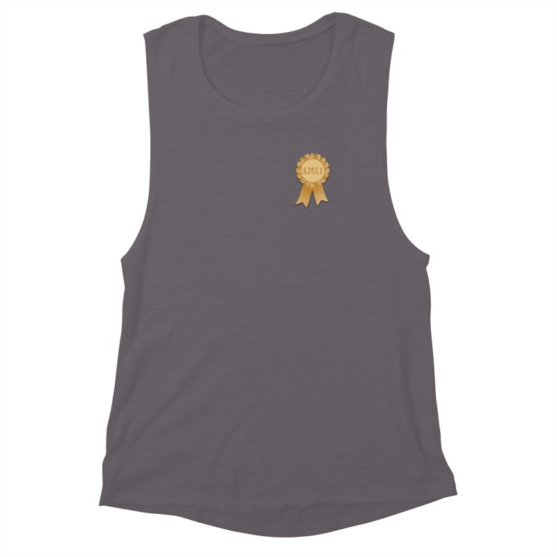 Congratulations on Adulting! Women's Muscle Tank by LLUMA Design