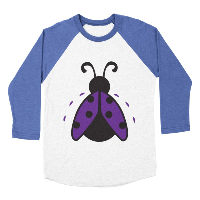 Lady Bug Women's Baseball Triblend T-Shirt by LLUMA Design