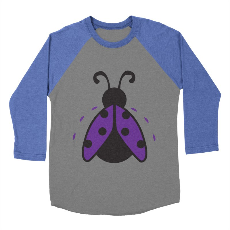 Lady Bug Men's Baseball Triblend T-Shirt by LLUMA Design