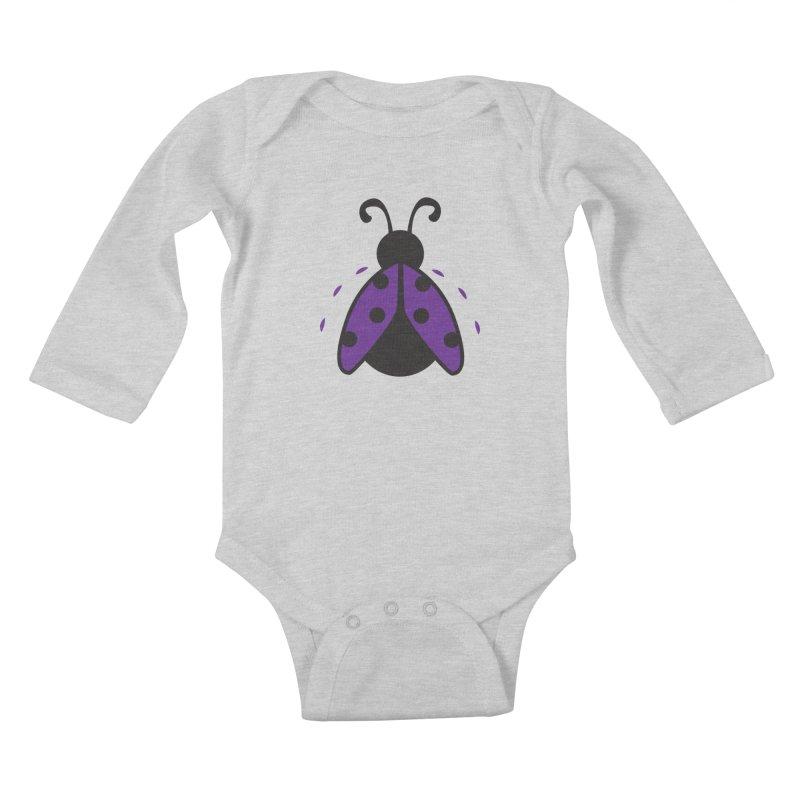 Lady Bug Kids Baby Longsleeve Bodysuit by LLUMA Design