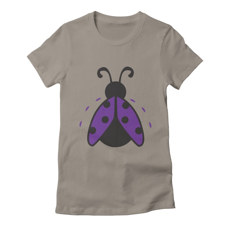 Lady Bug Women's Fitted T-Shirt by LLUMA Design