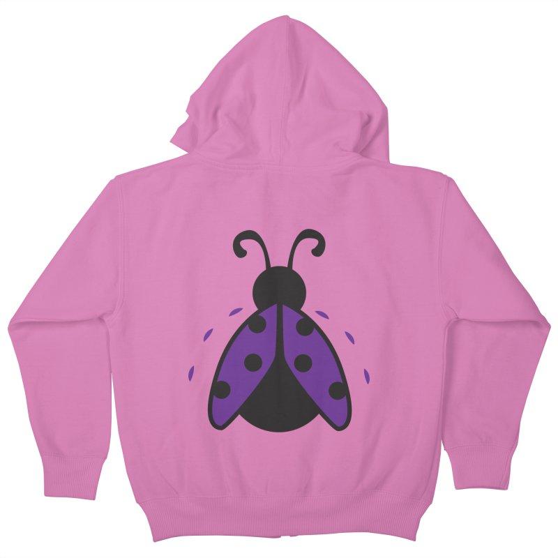 Lady Bug Kids Zip-Up Hoody by LLUMA Design