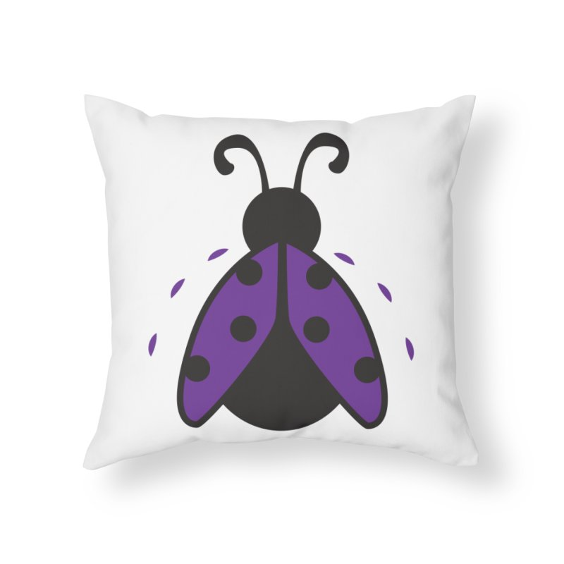 Lady Bug Home Throw Pillow by LLUMA Design