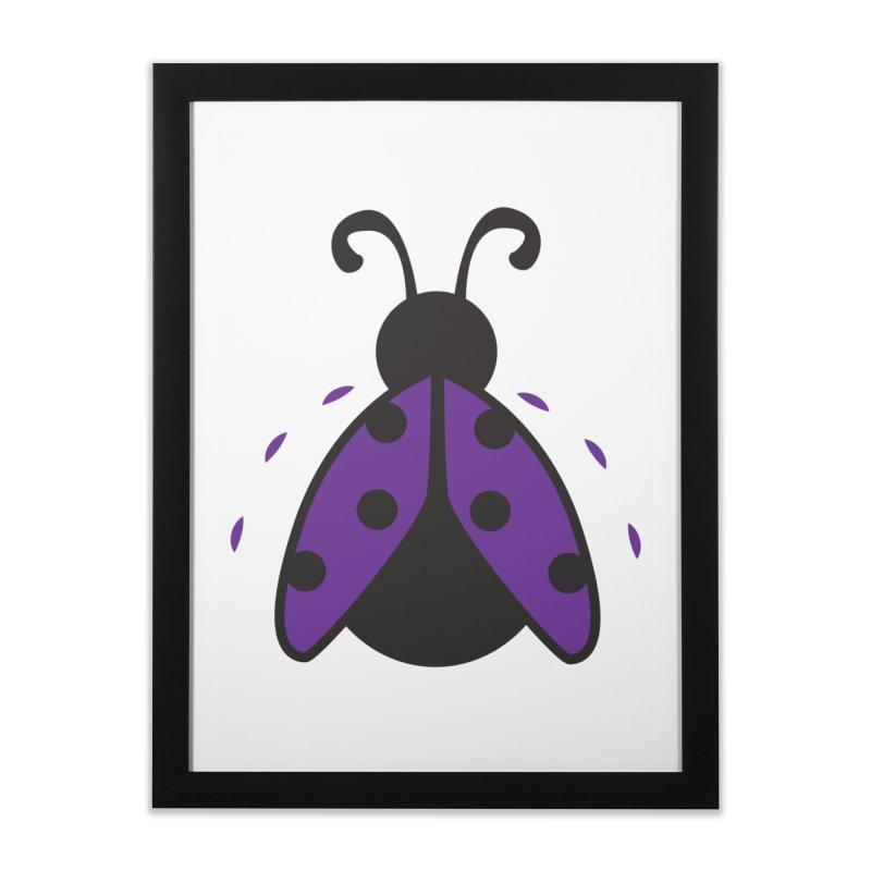 Lady Bug Home Framed Fine Art Print by LLUMA Design