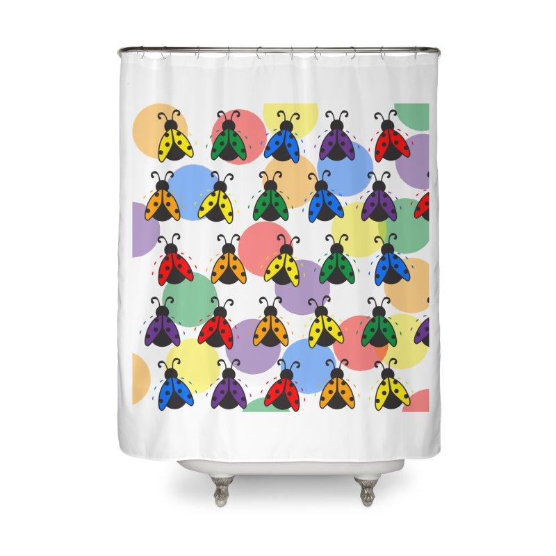 Lady Bug Home Shower Curtain by LLUMA Design