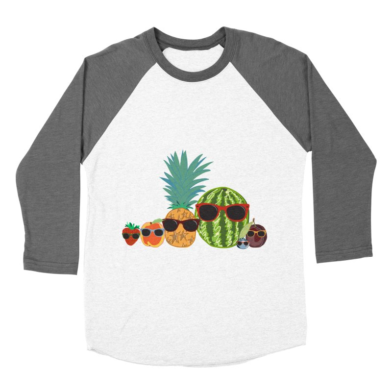 Fruit Party Women's Baseball Triblend T-Shirt by LLUMA Design