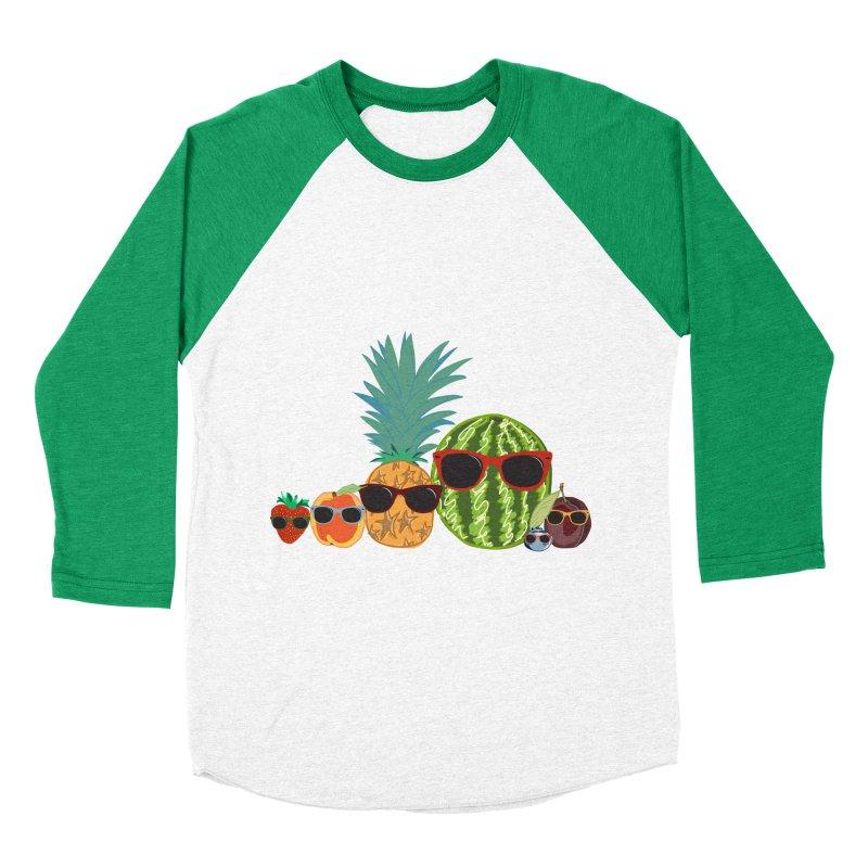 Fruit Party Women's Baseball Triblend T-Shirt by LLUMA Design