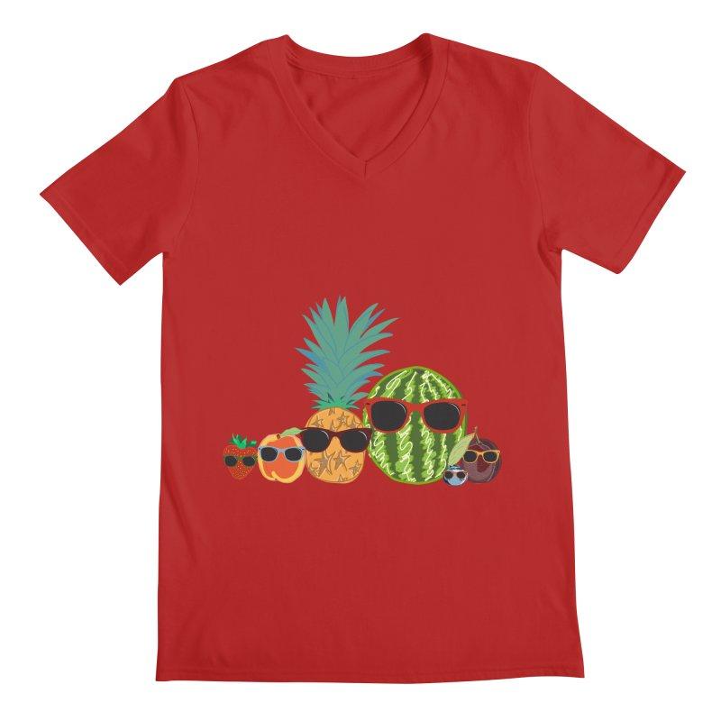 Fruit Party Men's V-Neck by LLUMA Design