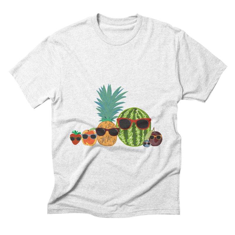 Fruit Party Men's Triblend T-shirt by LLUMA Design