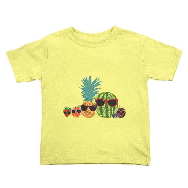 Fruit Party Kids Toddler T-Shirt by LLUMA Design