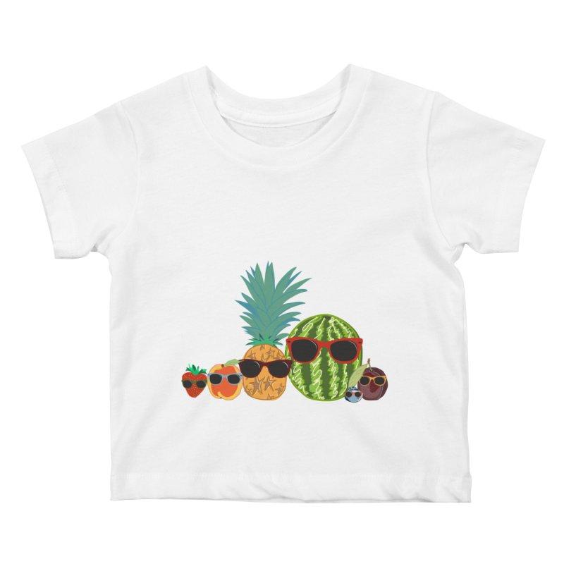 Fruit Party Kids Baby T-Shirt by LLUMA Design