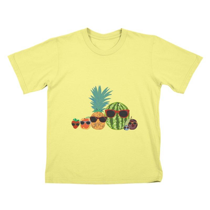 Fruit Party Kids T-shirt by LLUMA Design