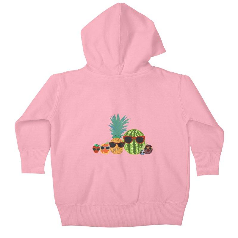 Fruit Party Kids Baby Zip-Up Hoody by LLUMA Design