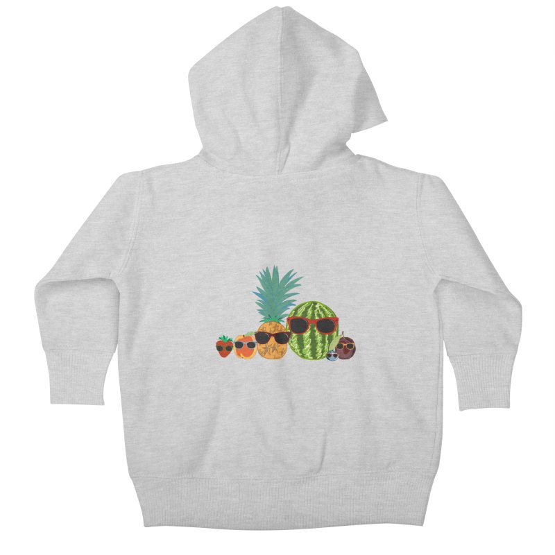 Fruit Party Kids Baby Zip-Up Hoody by LLUMA Design