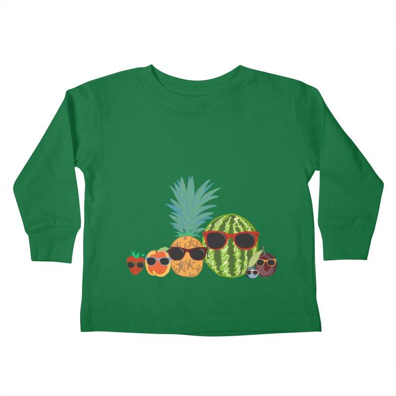 Fruit Party Kids Toddler Longsleeve T-Shirt by LLUMA Design
