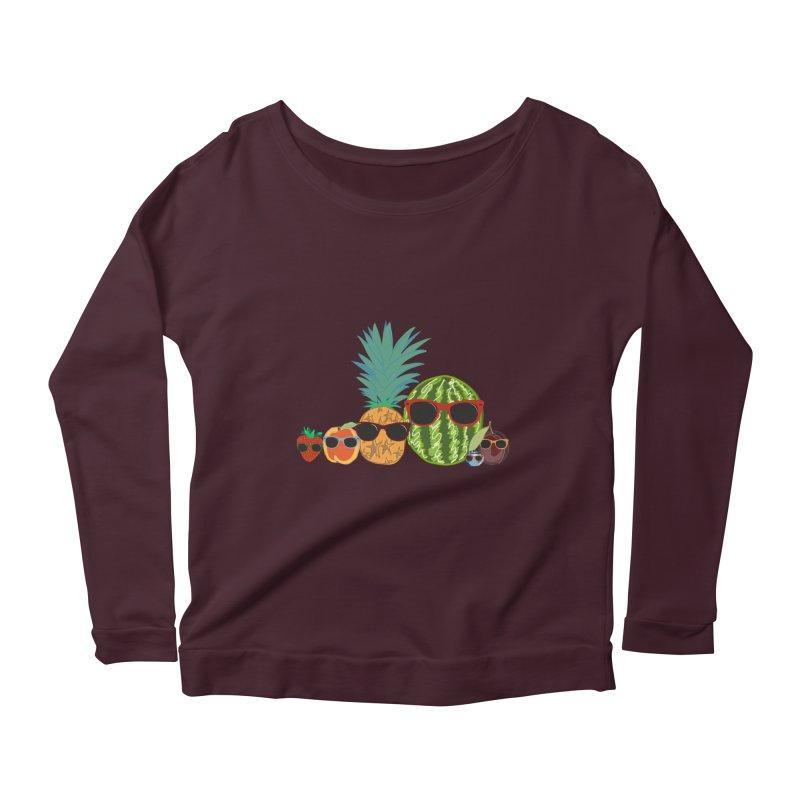 Fruit Party Women's Longsleeve Scoopneck  by LLUMA Design