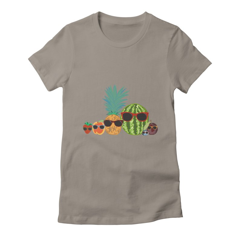 Fruit Party Women's Fitted T-Shirt by LLUMA Design