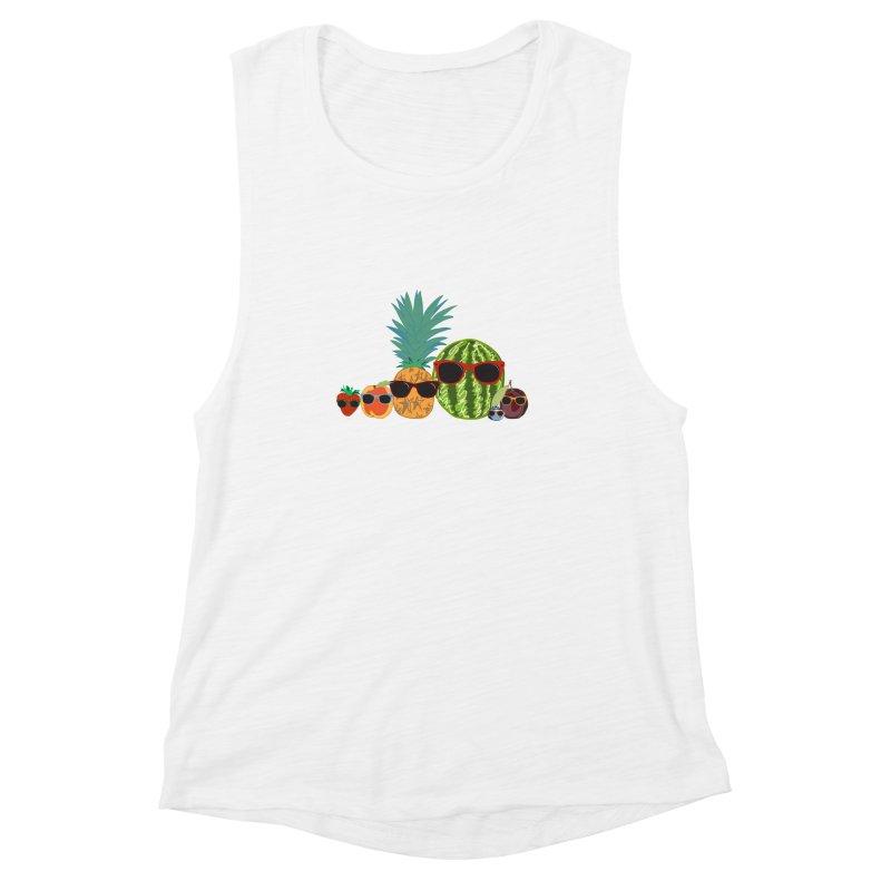 Fruit Party Women's Muscle Tank by LLUMA Design