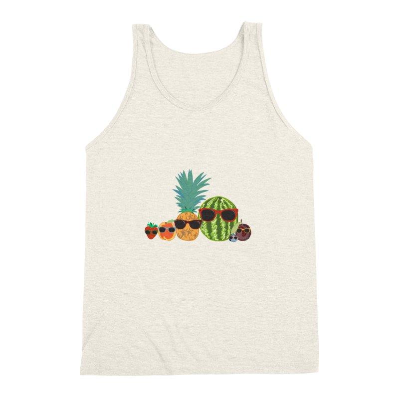 Fruit Party Men's Triblend Tank by LLUMA Design