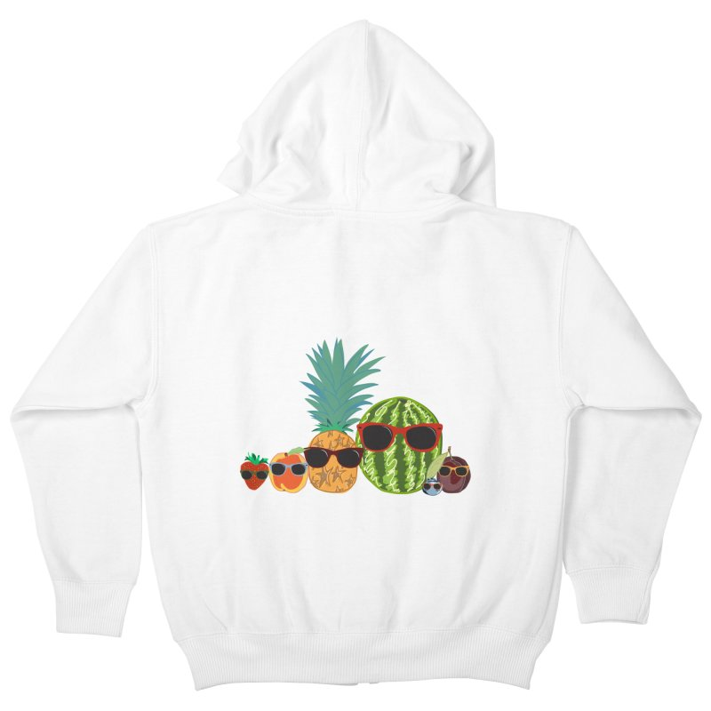 Fruit Party Kids Zip-Up Hoody by LLUMA Design