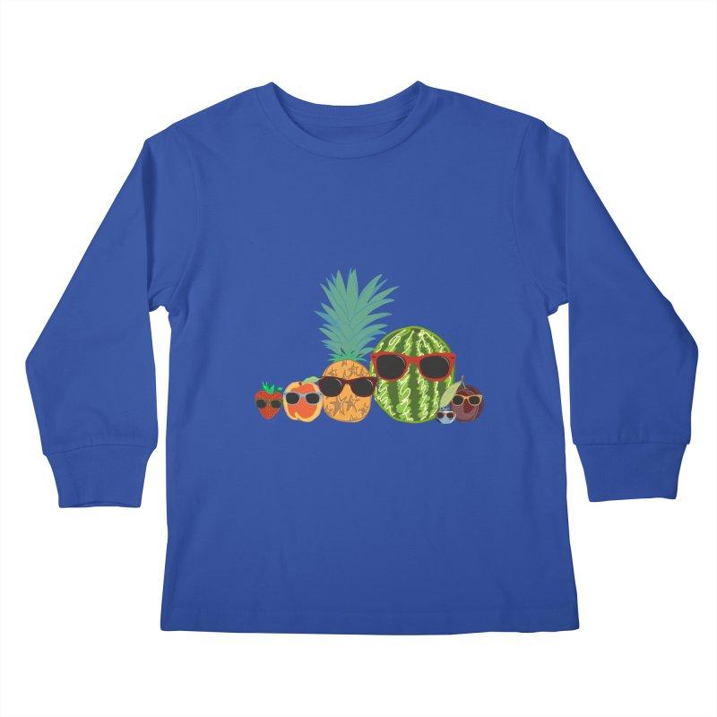 Fruit Party Kids Longsleeve T-Shirt by LLUMA Design