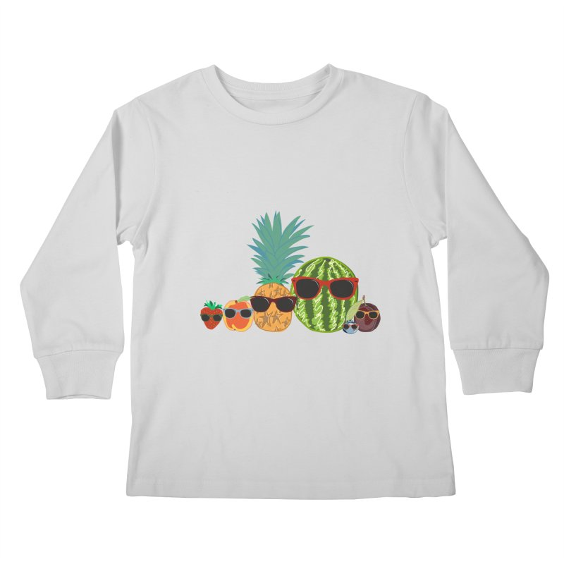 Fruit Party Kids Longsleeve T-Shirt by LLUMA Design