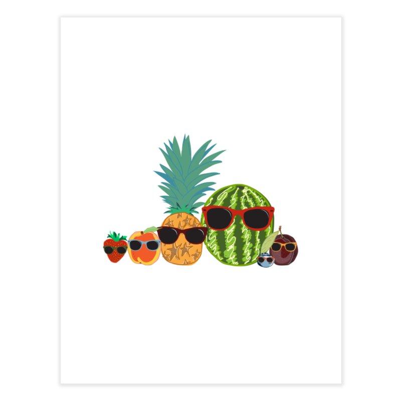 Fruit Party Home Fine Art Print by LLUMA Design
