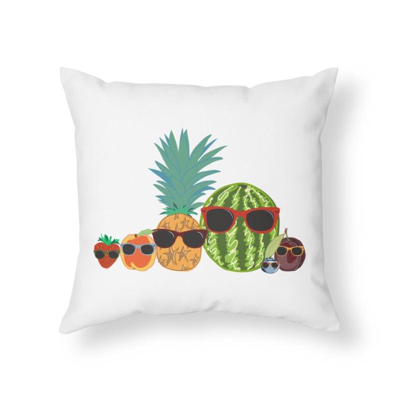 Fruit Party Home Throw Pillow by LLUMA Design