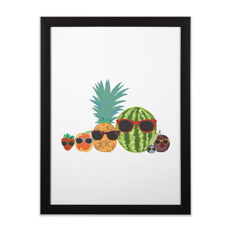 Fruit Party Home Framed Fine Art Print by LLUMA Design