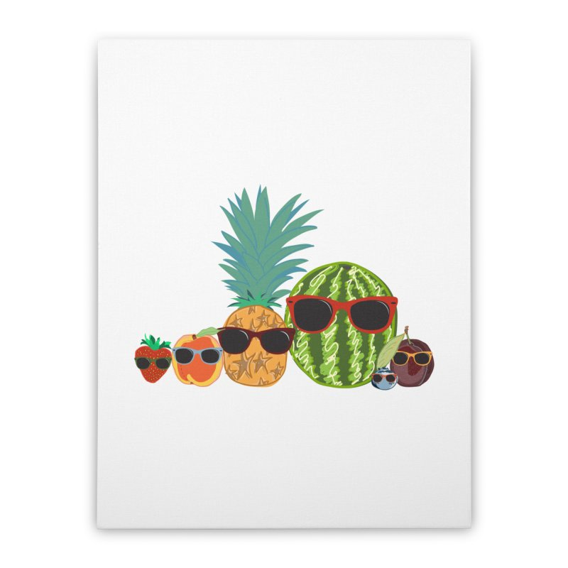 Fruit Party Home Stretched Canvas by LLUMA Design