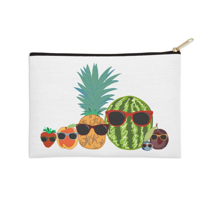 Fruit Party Accessories Zip Pouch by LLUMA Design