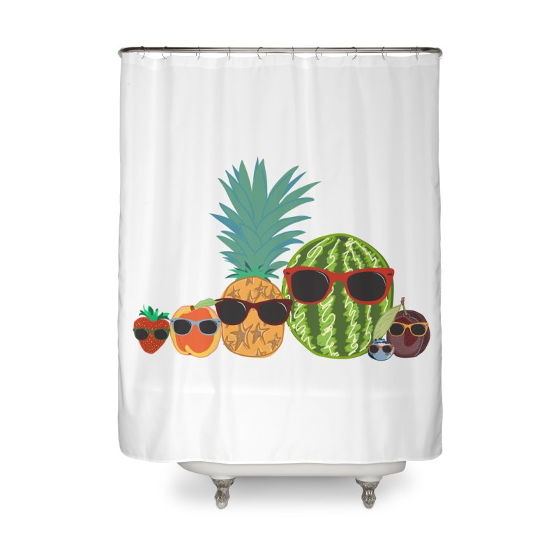 Fruit Party Home Shower Curtain by LLUMA Design