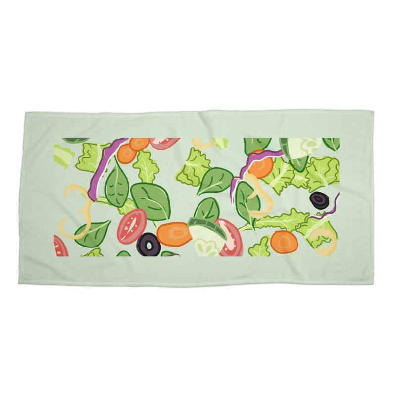 Tossed Salad Accessories Beach Towel by LLUMA Design