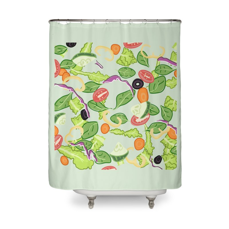 Tossed Salad Home Shower Curtain by LLUMA Design