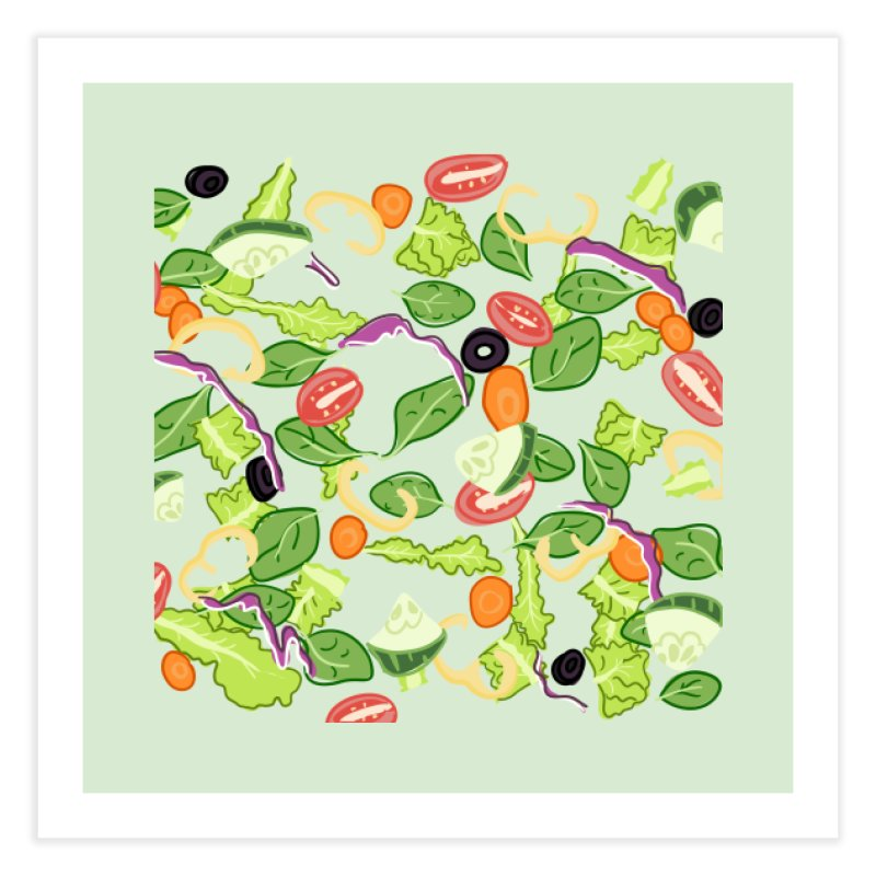 Tossed Salad Home Fine Art Print by LLUMA Design