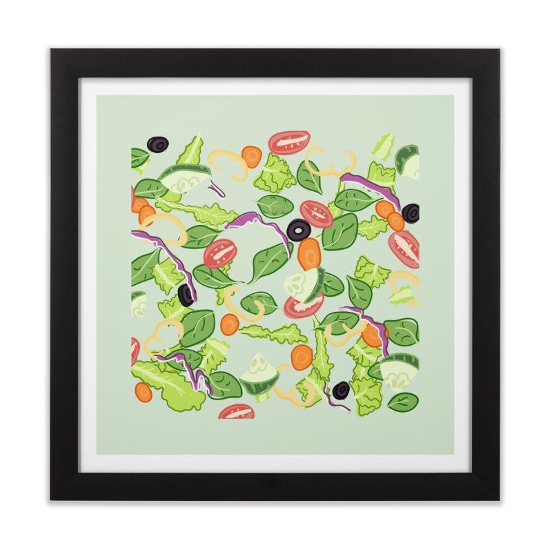 Tossed Salad Home Framed Fine Art Print by LLUMA Design