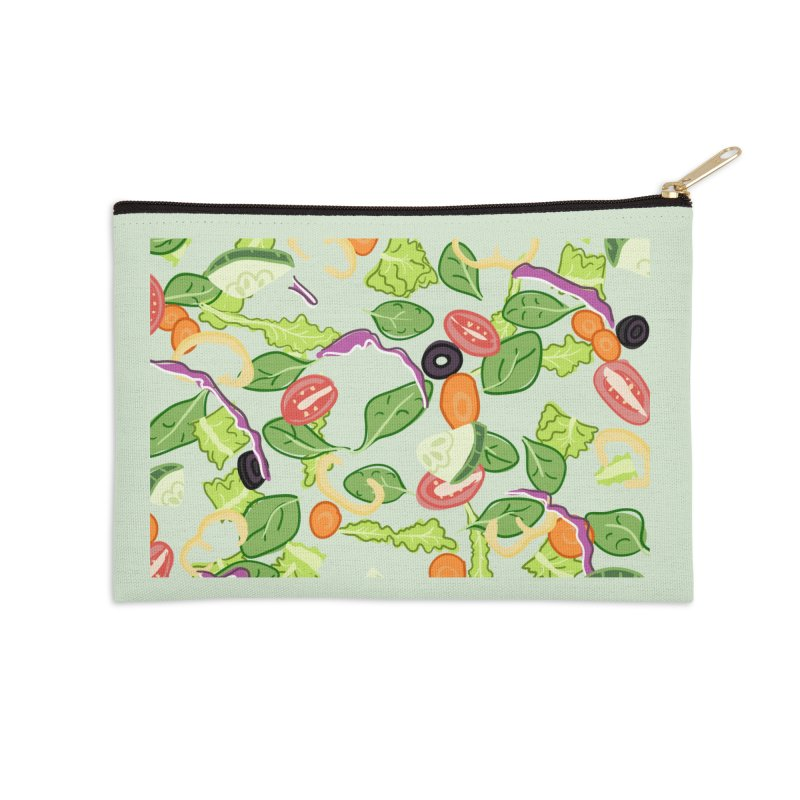 Tossed Salad Accessories Zip Pouch by LLUMA Design