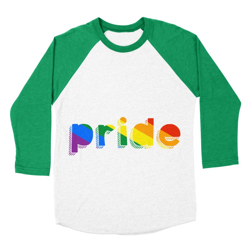 PRIDE Women's Baseball Triblend T-Shirt by LLUMA Design