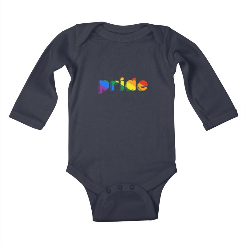 PRIDE Kids Baby Longsleeve Bodysuit by LLUMA Design