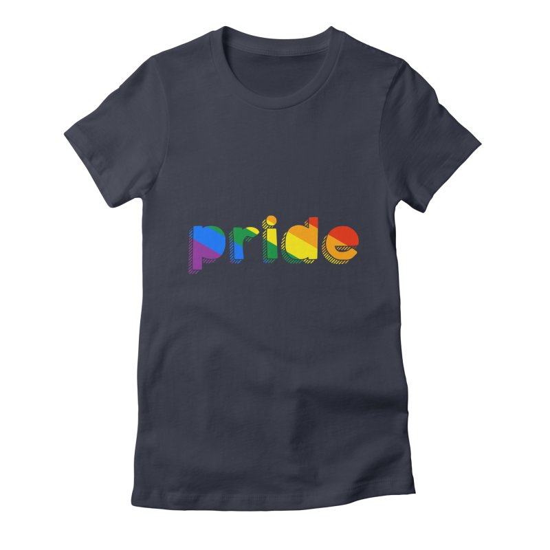 PRIDE Women's Fitted T-Shirt by LLUMA Design